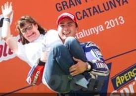 Anna Vives e Jorge Lorenzo