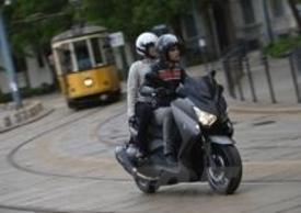 L'X-Max 400 sulle strade cittadine