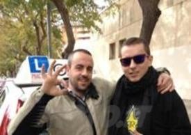 Lorenzo con il suo istruttore Xavi Vallejo