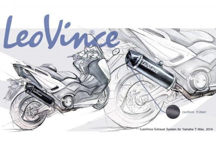 SILENZIATORE MARMITTA NERO LEOVINCE SBK SLIP-ON YAMAHA T-MAX 530 2012-2015