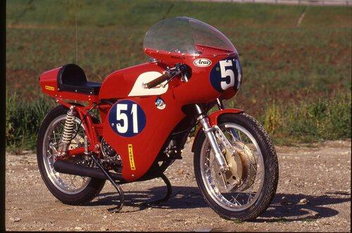 Nel 1965 l'Ala d'Oro 250 era dotata del motore a corsa corta, con cilindro in lega leggera e con frizione a secco. Il telaio però non era ancora quello a piastre. I freni erano due Oldani