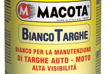 Macota Bianco Targhe per auto e moto