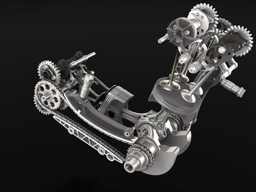 I bicilindrici supersportivi destinati a correre in superbike (con la modesta preparazione ammessa dal nuovo regolamento) non girano forte come i motori a quattro cilindri, ma hanno analoghe velocità medie dei pistoni. Qui è il Ducati Panigale 1199