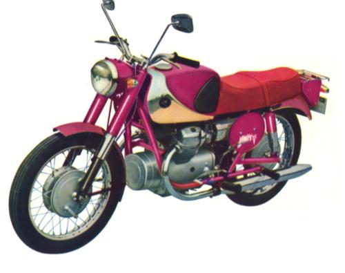 Con il marchio Lilac la giapponese Marusho ha costruito a partire dal 1959 una serie di modelli con motore bicilindrico a V trasversale e trasmissione finale ad albero. Questa è la MF-39 di 300 cm3