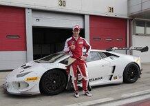 Dovizioso ad Adria sulla Lamborghini Huracan LP 620-2 Super Trofeo