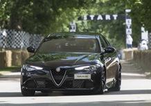 Alfa Romeo Giulia Quadrifoglio: una storica hill climb a Goodwood
