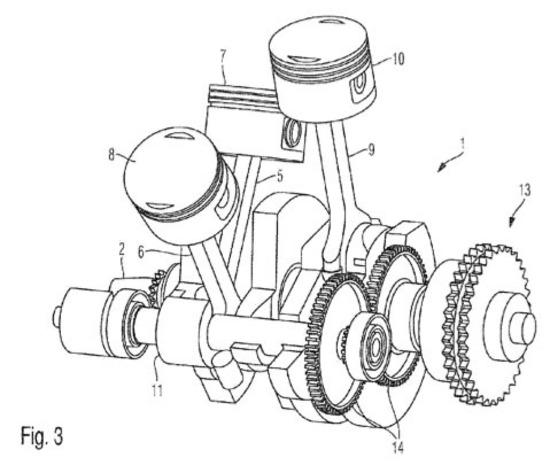 BMW, un brevetto per un tre cilindri a W