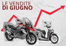 Mercato a giugno: bene le moto, e il semestre a +16%. Le Top 100