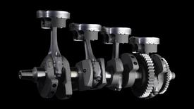 La Yamaha R1 ha l'albero a gomiti con manovelle disposte su due piani a 90°. Le bielle sono in lega di titanio, come quelle delle MotoGP e delle Formula Uno