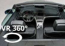 Mercedes-Benz SL: scopri gli interni nel video a 360°