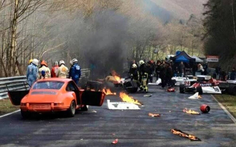 Niki Lada Nurburgring 1976 Crash