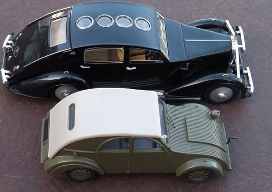 Modellini...di modelli che han fatto da modello: Voisin C25 Aerodyne e Citroen 2CV Prototipo