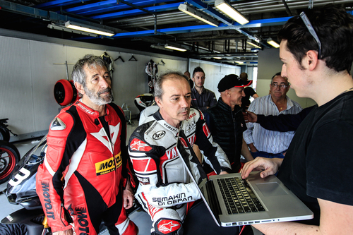 Luca Cadalora e il nostro Nico Cereghini raccontano le loro impressioni