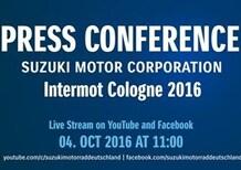 Suzuki a Intermot 2016. La presentazione delle novità in diretta