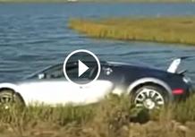 Bugatti Veyron finisce prima fuori strada e poi in acqua [Video]