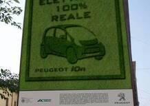 Peugeot: trasferiti all'idroscalo la iOn e il suo orto