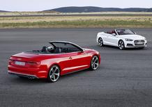 Nuove Audi A5 e S5 cabrio 2017: nuova generazione di un classico a cielo aperto