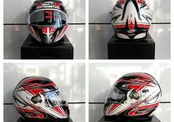 CASCO SUOMY HALO ZENITH WHITE/RED