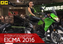 Kawasaki Versys-X 300 ad EICMA 2016: video