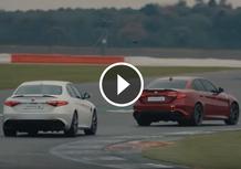 Alfa Giulia Quadrifoglio: un giro record a Silverstone...bendata!