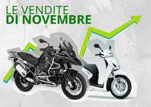 Mercato a novembre: in positivo moto, scooter e ciclomotori. Il 2016 a +11,4%. Le Top 100