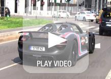 Porsche 918 Spyder: video su strada