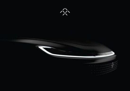 Faraday Future, ecco il teaser della vettura elettrica