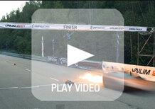 Lamborghini Gallardo: 2.000 CV per infrangere un record. Finisce in fiamme