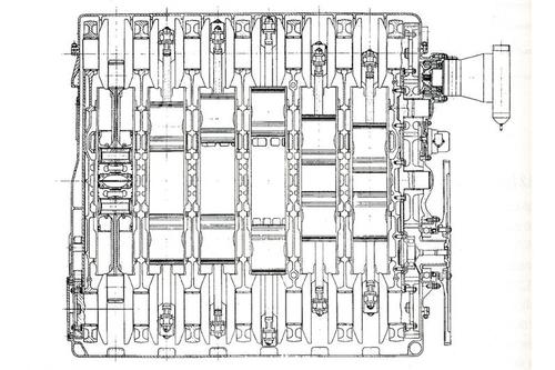 I diesel a pistoni opposti hanno avuto un discreto impiego sui carri armati. Questo è il Leyland L60 costruito a partire dal 1967 per i Chieftain dell'esercito inglese