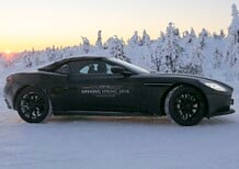 Aston Martin DB11 Volante: testing on the snow