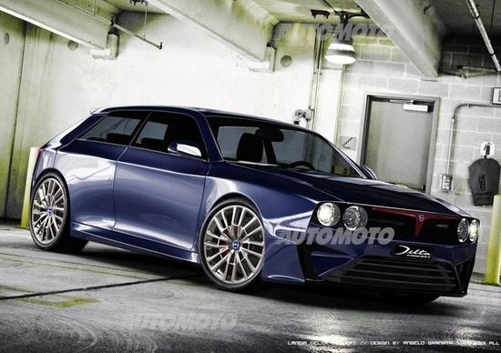 Lancia Delta HF Integrale concept: come la immagina un designer italiano
