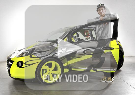 Opel Adam: al via l'asta benefica del modello personalizzato da Rossi e Drudi