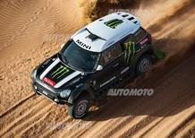 Dakar 2014, tappa 6. Duclos (Sherco) e Peterhansel (Mini All4 Racing)