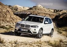 BMW X3 restyling: nuove soluzioni stilistiche e un 2.0 diesel di ultima generazione