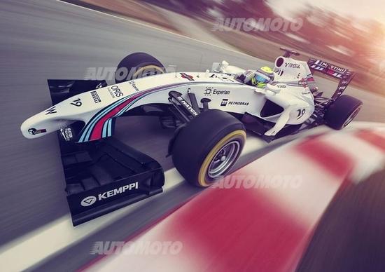 Williams: svelata la colorazione Martini Racing delle monoposto di Bottas e Massa