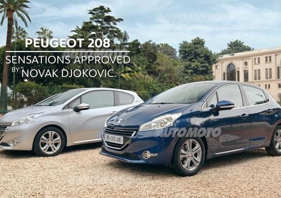 Peugeot: la 208 insieme a Djokovic per una pubblicità