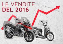 Mercato 2016: immatricolazioni a +13,3%. Le moto balzano a +21,5%. Le Top 100