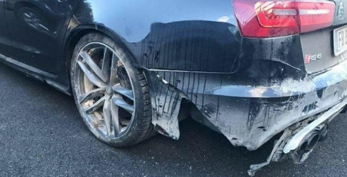 Valentino Rossi: incidente sulla neve con l'Audi RS6 (4)