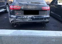 Valentino Rossi: incidente sulla neve con l'Audi RS6