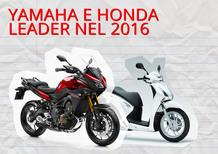 Yamaha vende più moto. Honda più scooter