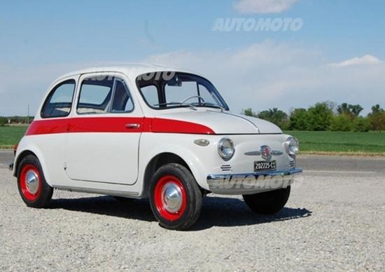 La storica Fiat Nuova 500 Sport che vale 58.000 euro