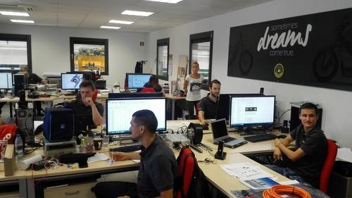 L'ufficio tecnico della Bultaco in Spagna