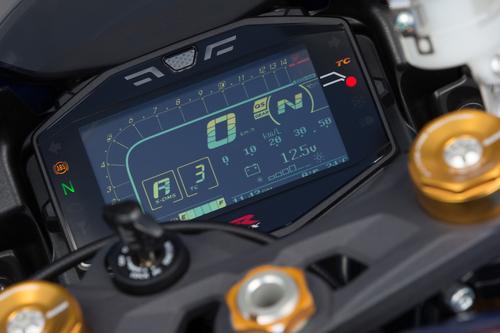 La strumentazione della Suzuki GSX-R1000R