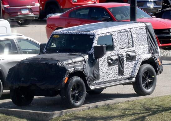 Nuova Jeep Wrangler: prime immagini spia
