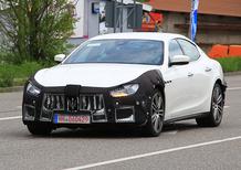 Maserati Ghibli restyling 2017, le foto spia