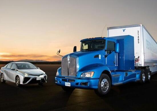 Toyota, alimentazione ad idrogeno per i truck
